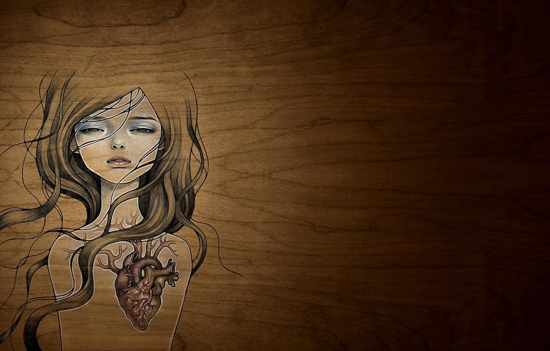 Обои сердце, шов, разбитое сердце, рисунок. Разное foto 7
