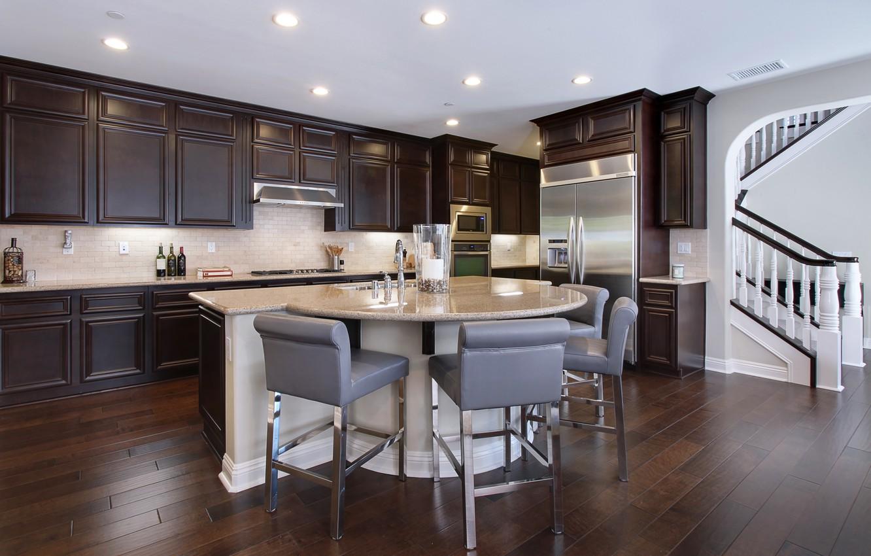 Фото обои дизайн, стол, мебель, стулья, холодильник, кухня, гарнитур
