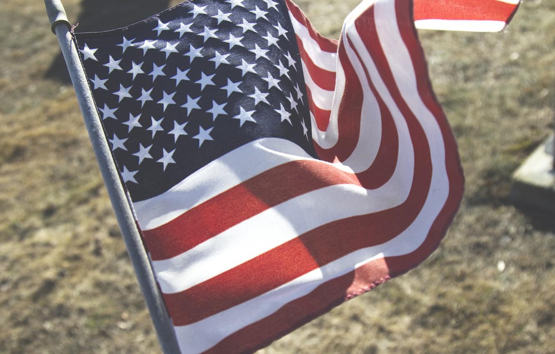 Фото обои Флаг, Америка, Красиво