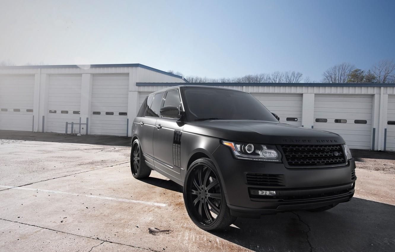 Обои black matte, range rover. Автомобили foto 8