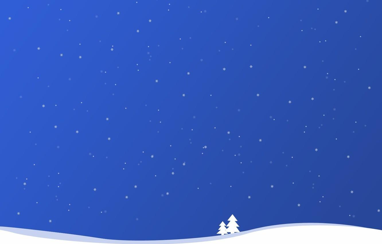 Фото обои зима, снег, simple, линии, простота, снежинки