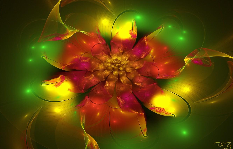Обои фрактал, россыпь, абстракция, цветы. Абстракции foto 7