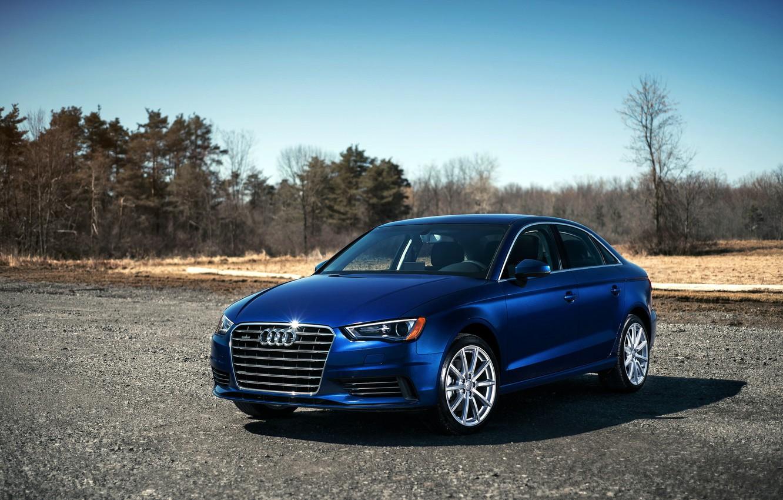 Фото обои синий, Audi, ауди, blue, 2015, 2.0T