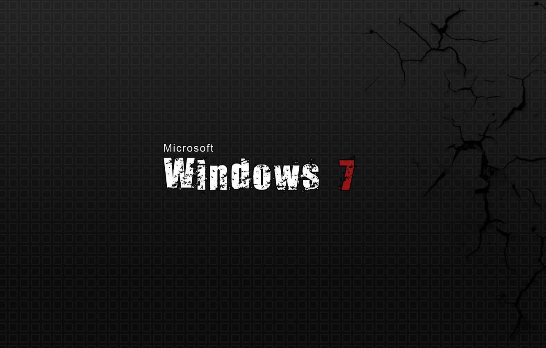 Фото обои трещины, фон, windows 7, microsoft, текстуры