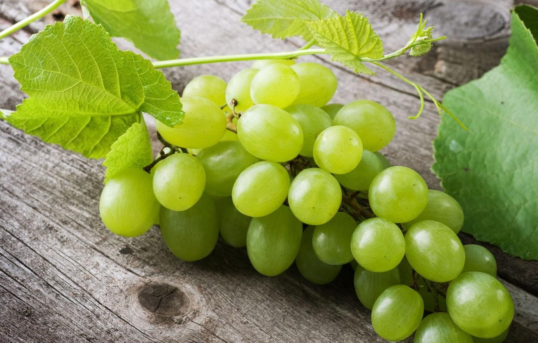 Фото обои зеленый, фон, widescreen, обои, еда, ягода, виноград, листик, wallpaper, листочек, широкоформатные, background, полноэкранные, HD wallpapers, ...