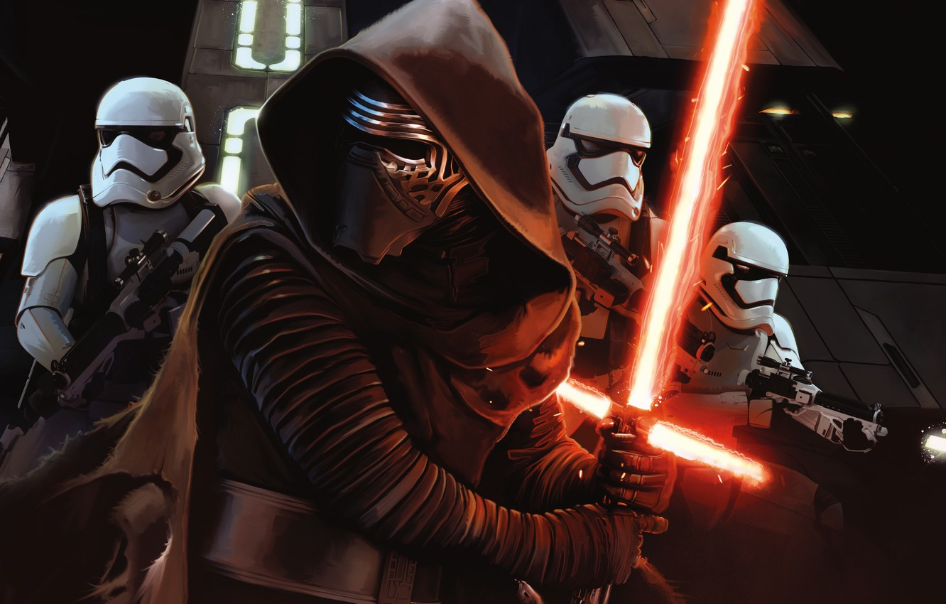 Фото обои Star Wars, Fantasy, Black, Laser, The, Wallpaper, Jedi, Army, Force, Year, Weapons, Walt Disney Pictures, ...