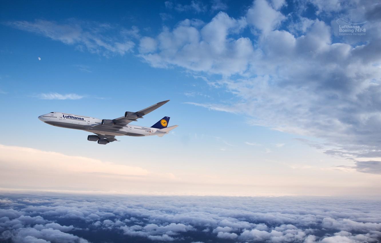 Обои 8, Самолёт, люфтганза, Lufthansa, 747, boeing, боинг, пассажирский. Авиация foto 6