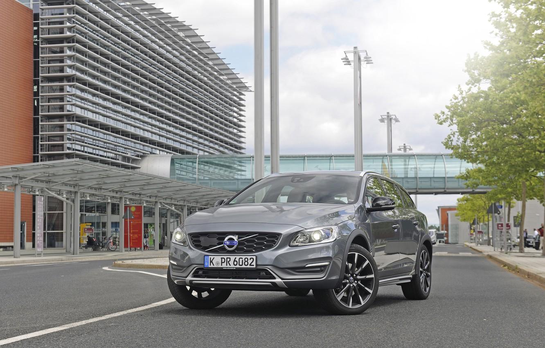 Фото обои Volvo, вольво, Cross Country, V60, 2015
