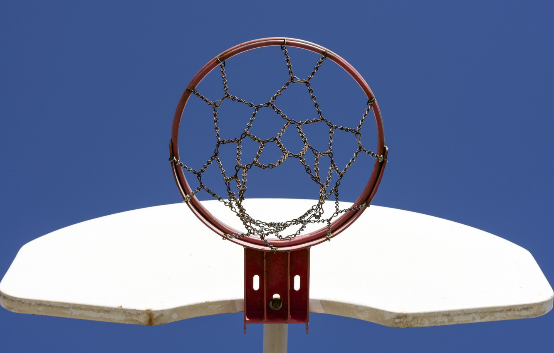 Фото обои спорт, кольцо, щит, баскетбол