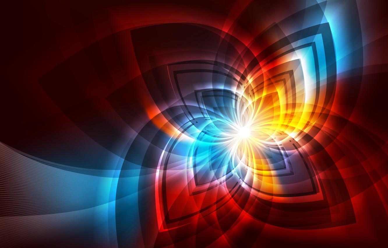 Обои фракталы, Фрактальный узор, свечение. Абстракции foto 6