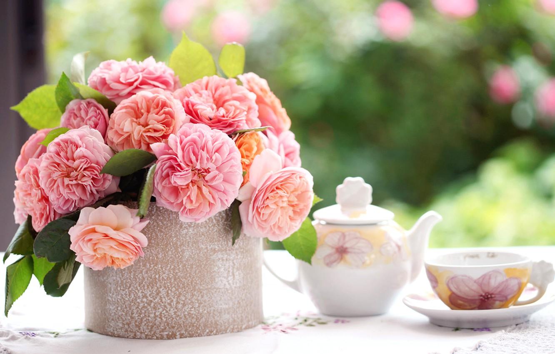 Обои цветы, блюдце, пионы. Разное foto 7