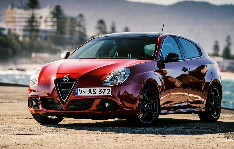 Фото обои Alfa Romeo, альфа ромео, Verde, Quadrifoglio, AU-spec, Giulietta, 2015, 940