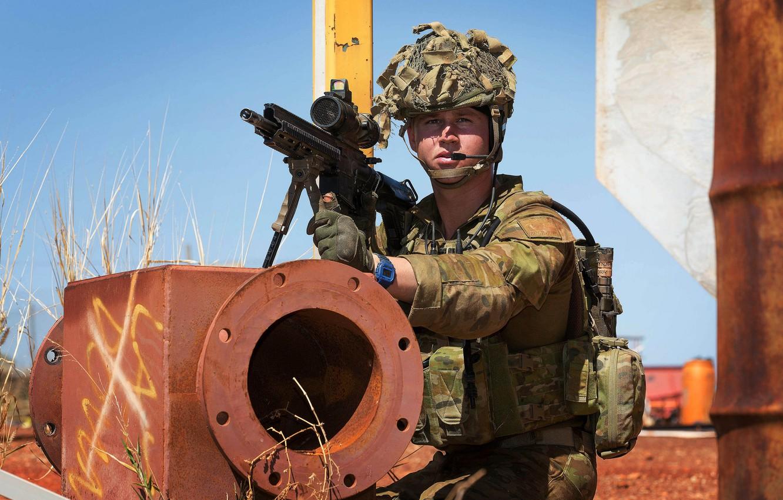 Фото обои оружие, солдат, Australian Army