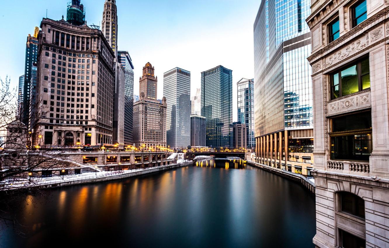 Обои небоскребы, чикаго, america, америка, chicago, здания. Города foto 6
