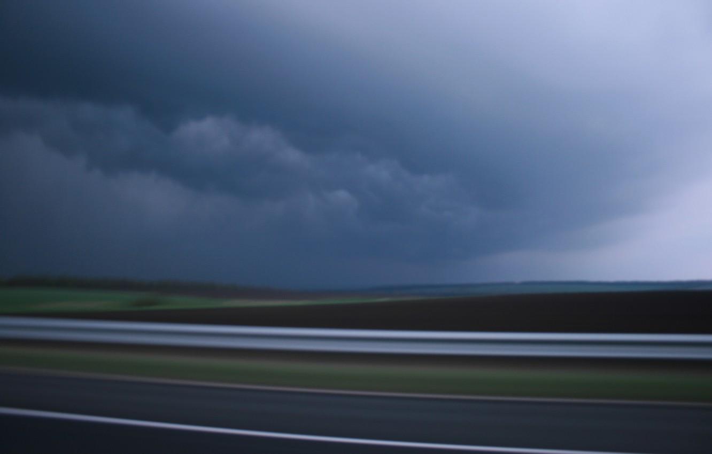 Фото обои road, sky, Storm, clouds
