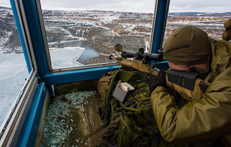 Фото обои оружие, солдат, Canadian Army