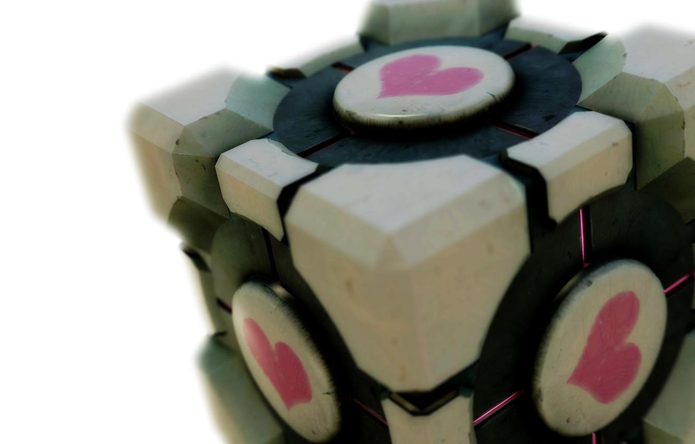 Фото обои сердце, кубик, portal