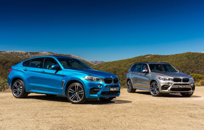 Фото обои бмв, BMW, F16, AU-spec, 2015, X6 M, F15, X5 M