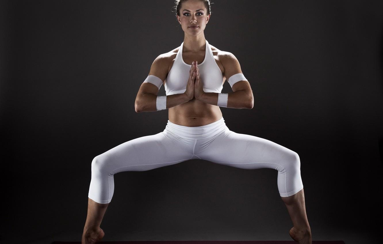 Фото обои девушка, поза, спорт, yoga