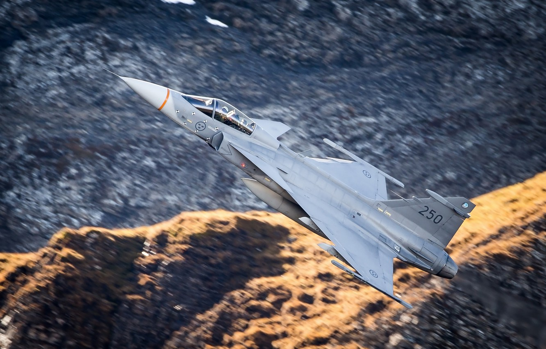 Обои истребитель, gripen, многоцелевой, Saab jas 39. Авиация foto 18