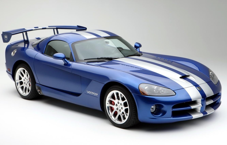 Фото обои синий, фон, Додж, Dodge, суперкар, Viper, Coupe, передок, SRT10, Вайпер