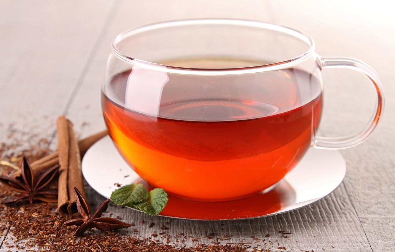 Фото обои чай, чашка, корица, блюдце, бадьян, анис