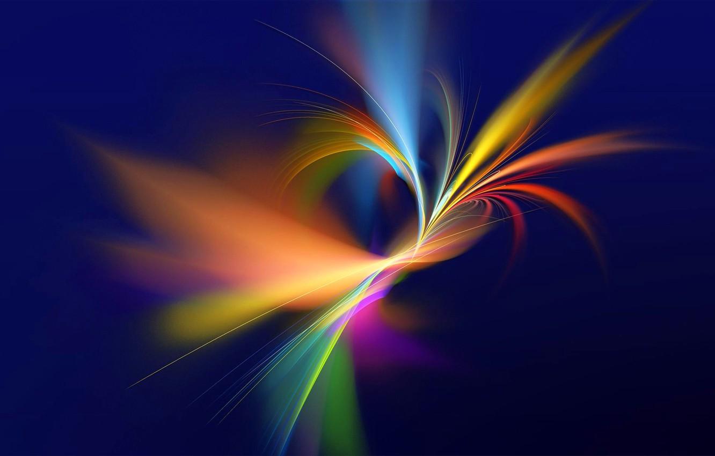 Обои свет, лучи, Цвет, фрактал, узор. Абстракции foto 9
