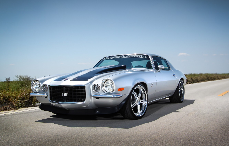 Фото обои тюнинг, muscle car, передок, Chevrolet Camaro, шевролет