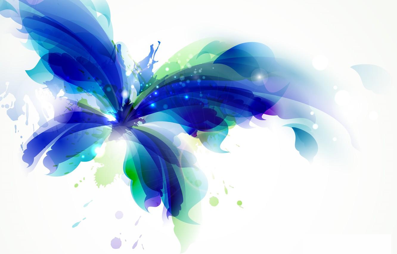 Фото обои цвета, абстракция, фон, бабочка, краски