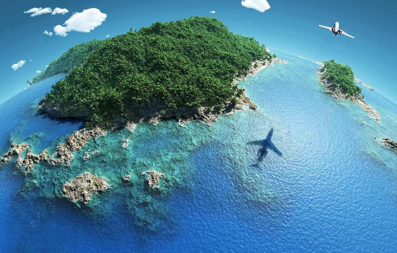 самолеты в океане фото долго