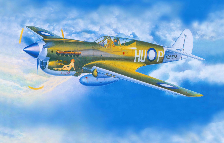 Обои американский, p-40, warhawk, kittyhawk, tomahawk, curtiss, Самолёт. Авиация foto 11
