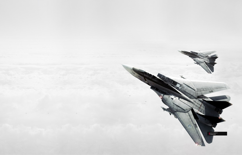 Фото обои небо, самолеты, Ace Combat 5