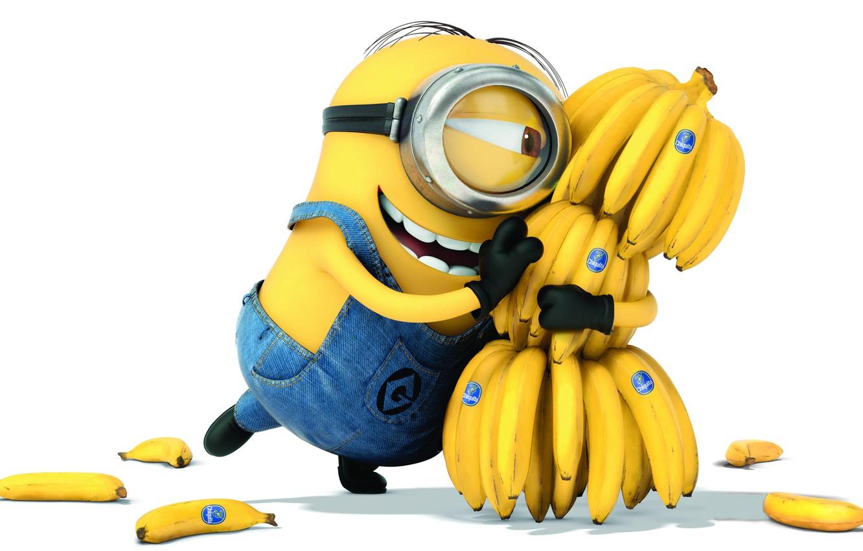 Фото обои улыбка, бананы, миньон, Гадкий Я 2, Descpicable Me 2