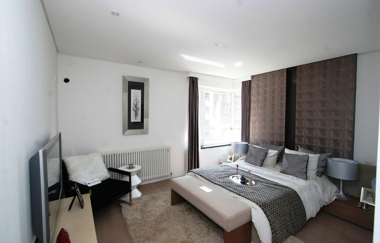 Фото обои дизайн, стиль, комната, мебель, кровать, интерьер, подушки