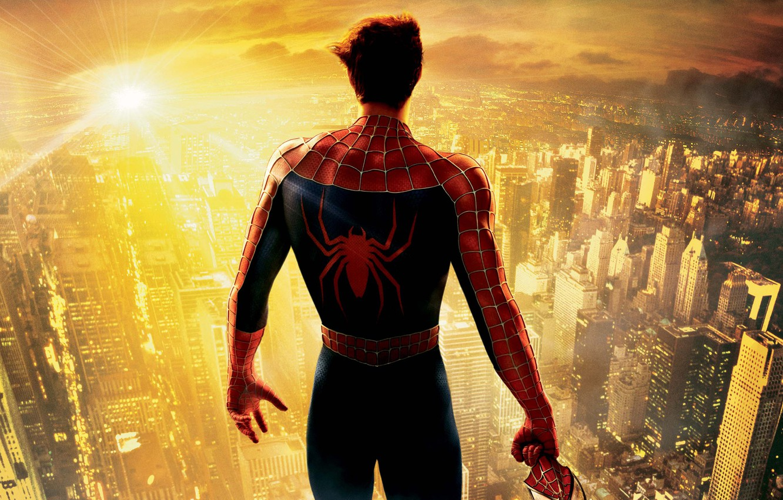 Фото обои Человек-паук, Spider-Man, Peter Parker, Тоби Магуайр, Tobey Maguire