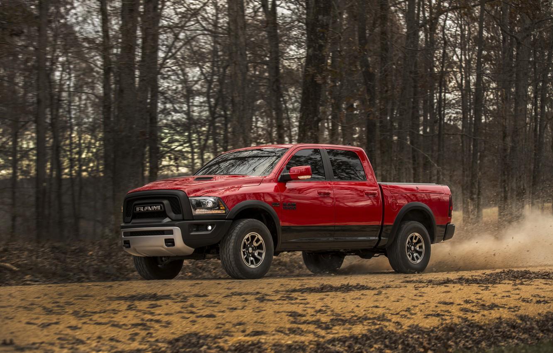 Фото обои фото, Тюнинг, Dodge, Автомобиль, Бордовый, Rebel, 2015, Ram 1500, Металлик