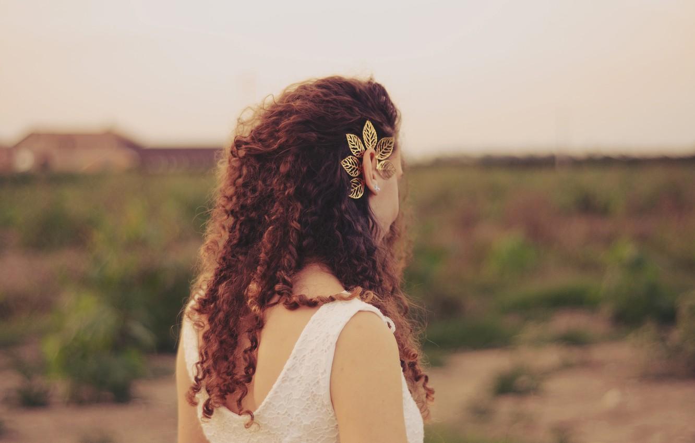 Фото обои девушка, волосы, кудри