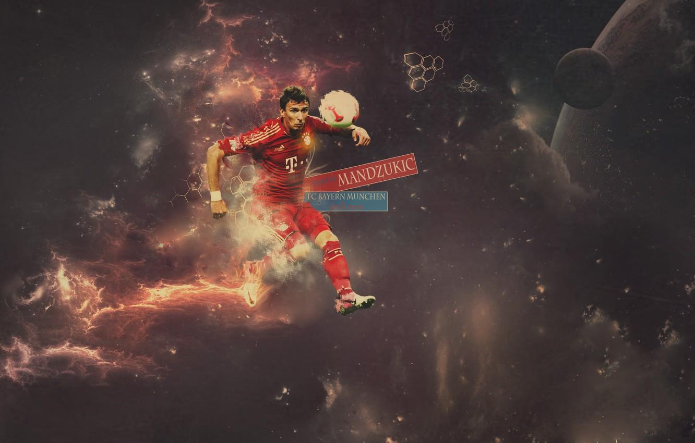 Фото обои Mario, Bayern, Munchen, Mandzukic