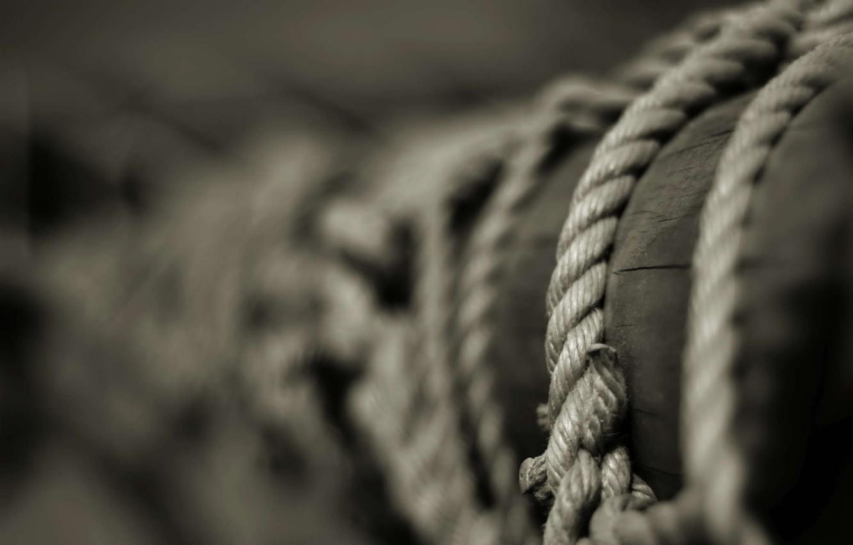 Фото обои столб, веревка, ч/б