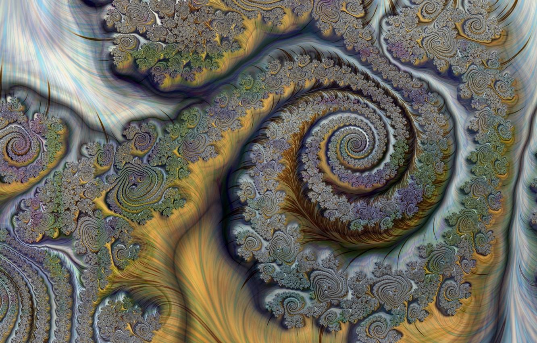 Обои Fractal, абстракция, форма, Цвет. Абстракции foto 8