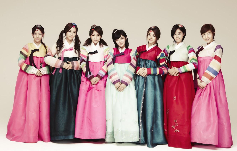 Фото обои музыка, девушки, азиатки, Южная Корея, Kpop, T-ARA, ханбок