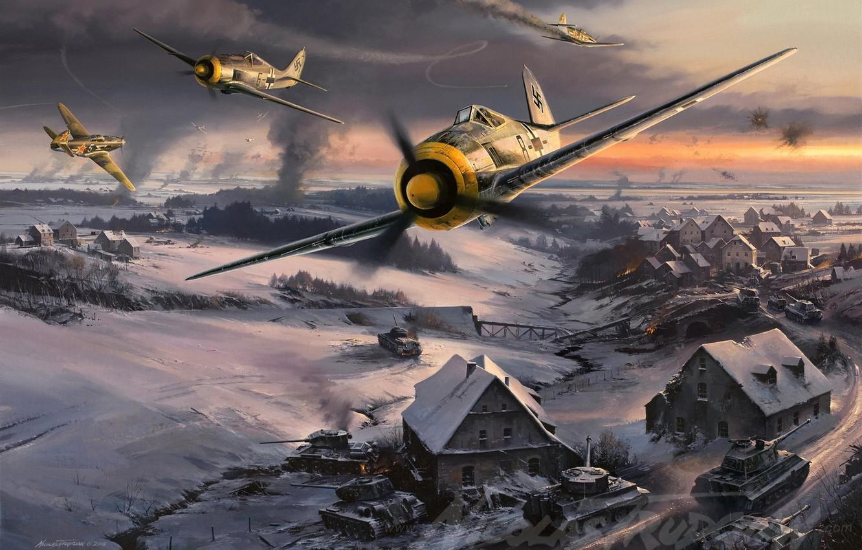 Обои войны, bf.109, мировой, Fw-190, истребители, второй. Авиация foto 12