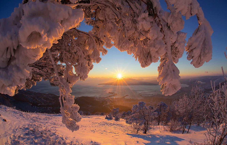 Красивые картинки солнца и снега