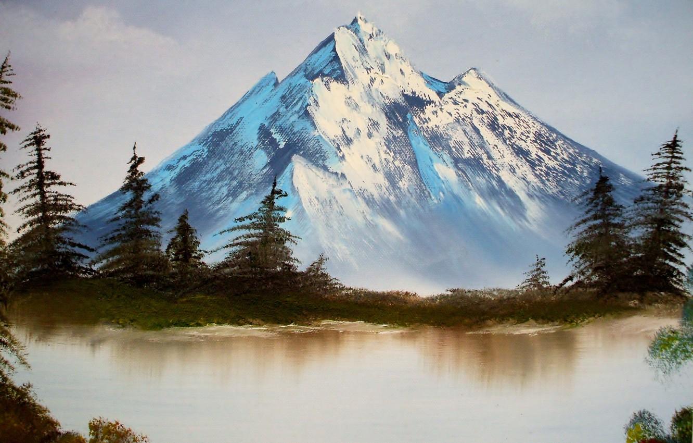 микрофлора рисуем горы фото часть торта