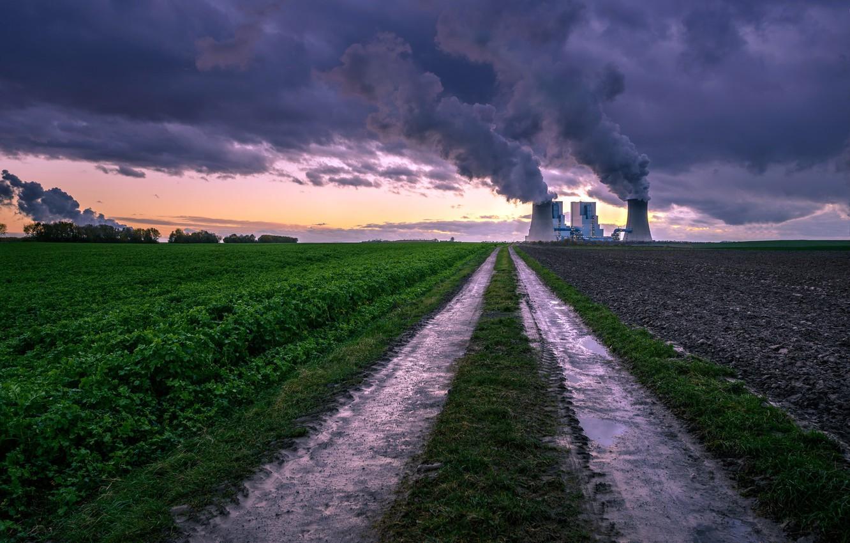 Фото обои Kraftwerk, Road to industry, Grevenbroich