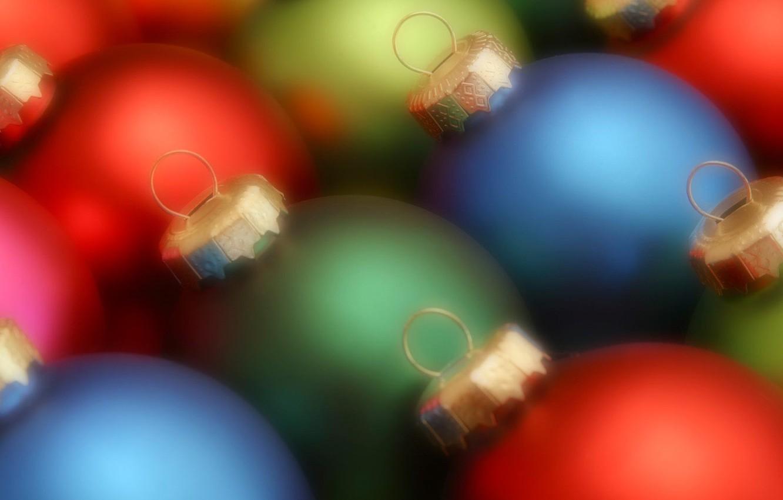 Фото обои шарики, цвет, Новый год