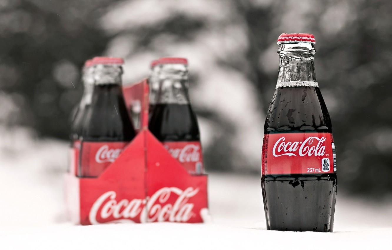 Фото обои бутылки, напиток, Coca Cola