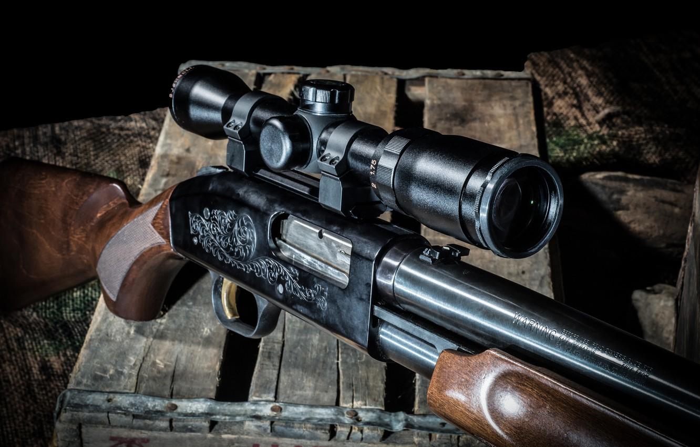 Фото обои оружие, оптика, ружьё, помповое, Mossberg 500