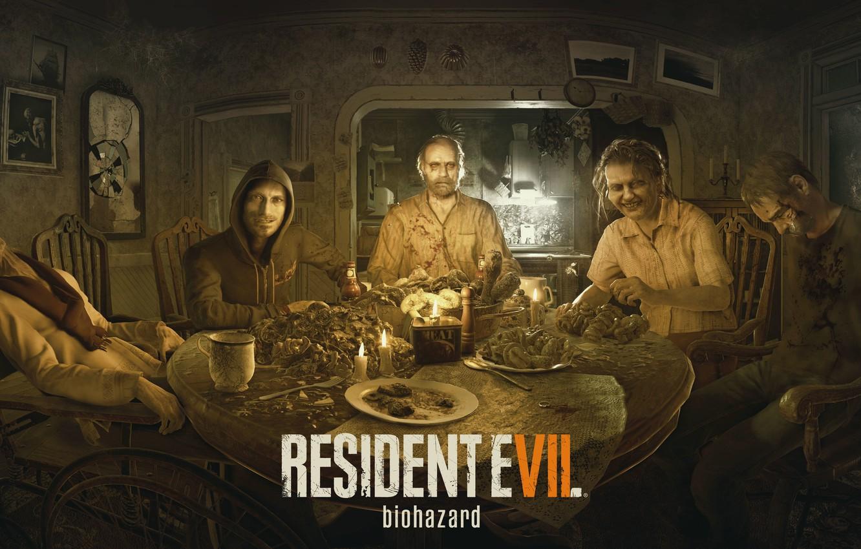 Фото обои Game, Biohazard, Dinner, Resident Evil 7
