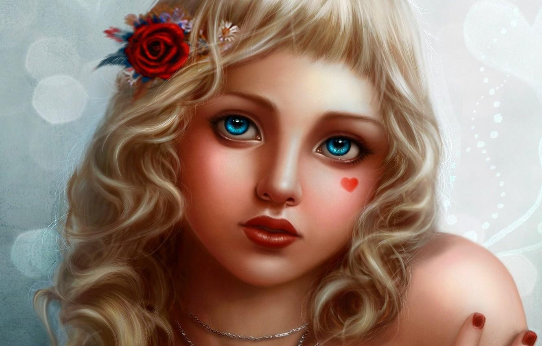 картинки ангелочек с голубыми глазами нужна была